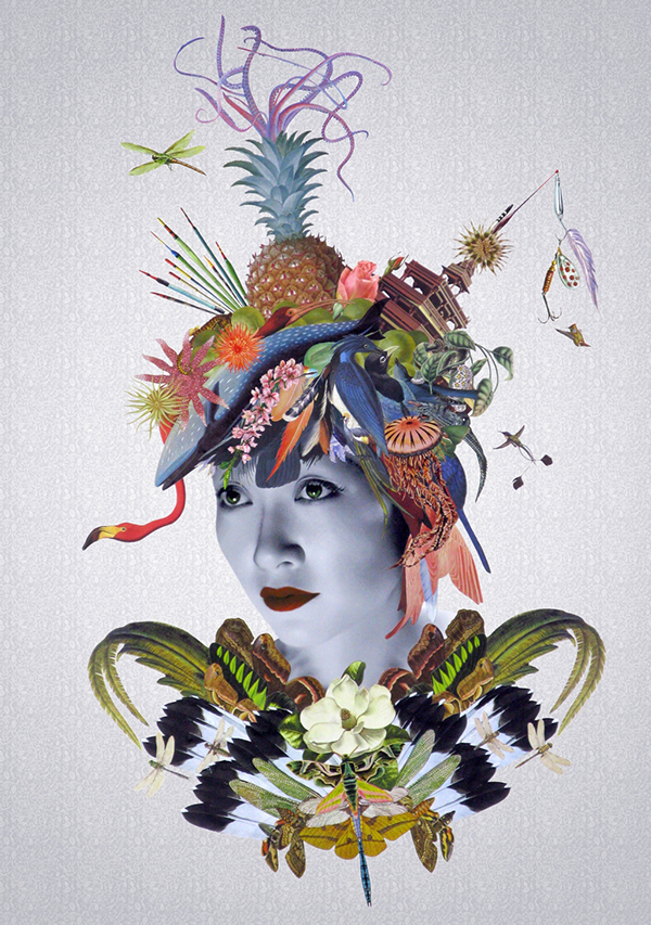 Collage portrait by Maria Rivans
