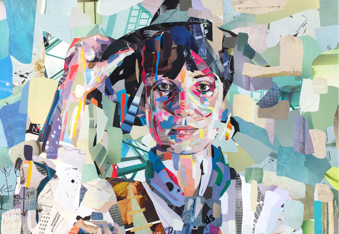 Collage portrait by Patrick Bremer