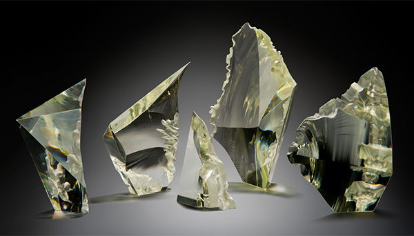 Contemporary glass sculpture by Jochen Ott
