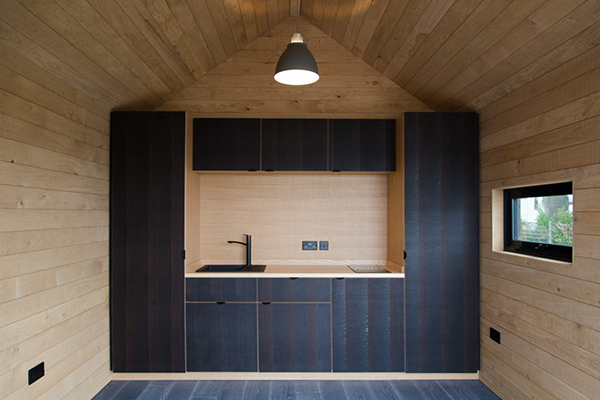 Eco cabin kitchen interior