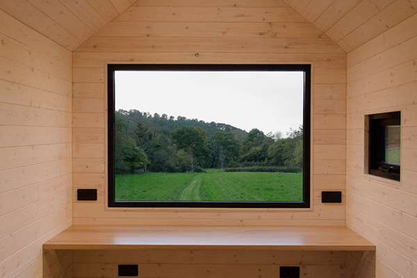 Eco cabin window by Out of the Valley