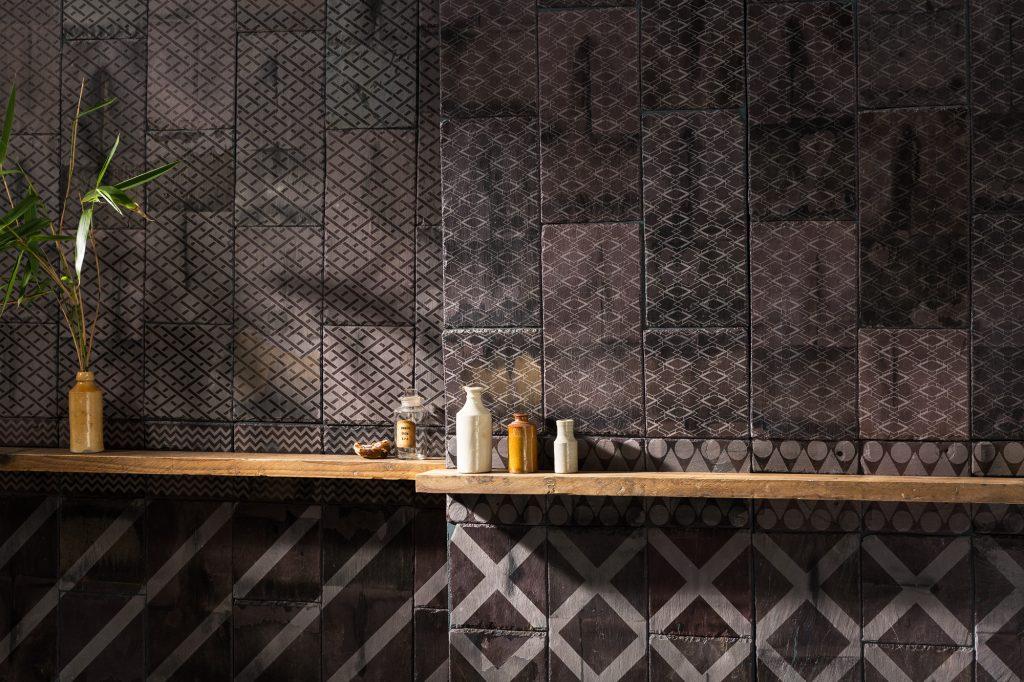Etched reclaimed slate tiles by artist Daniel Heath