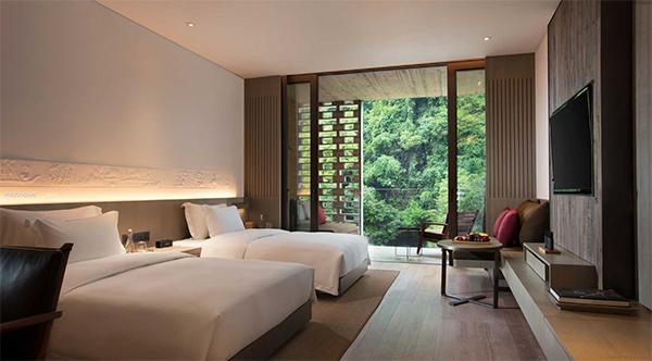 Hotel room interior at Alila Yangshuo