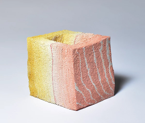 Layered ceramics contemporary sculpture by Jongjin Park