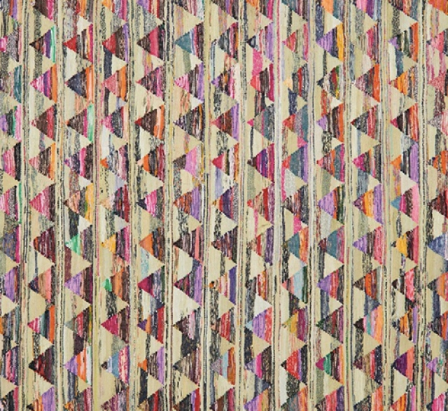Multi-Coloured Recycled Fabric Rug