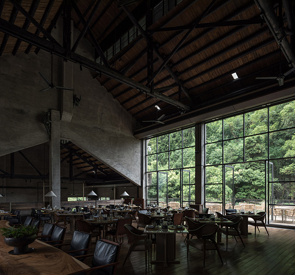 Restaurant interior at Alila Yangshuo