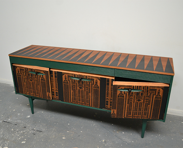 Upcycled sideboard by Daniel Heath