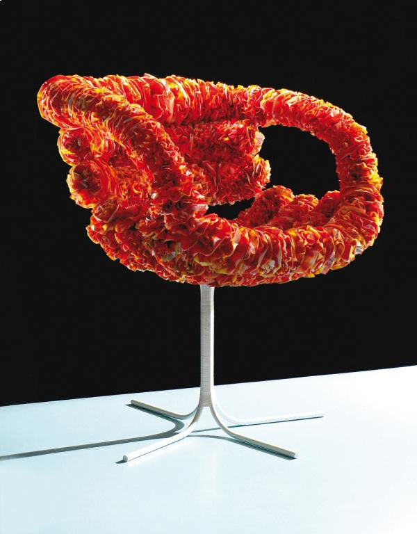 Inkuku chair made from recycled plastic bags