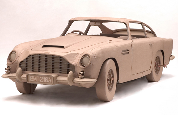 Aston Martin in cardboard by Chris Gilmour