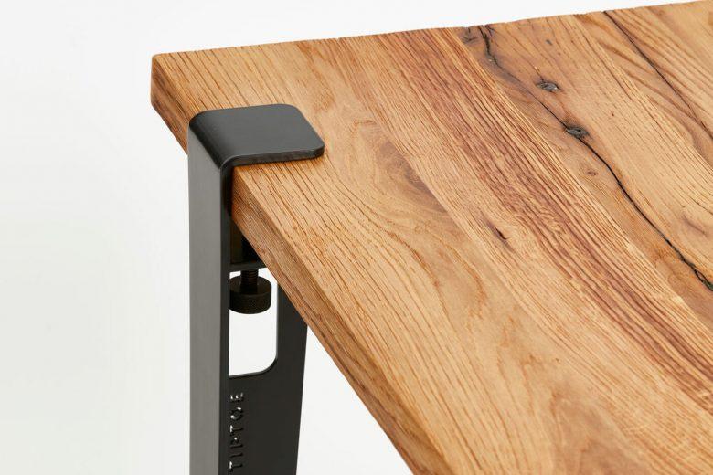 Black Tiptoe removable table leg