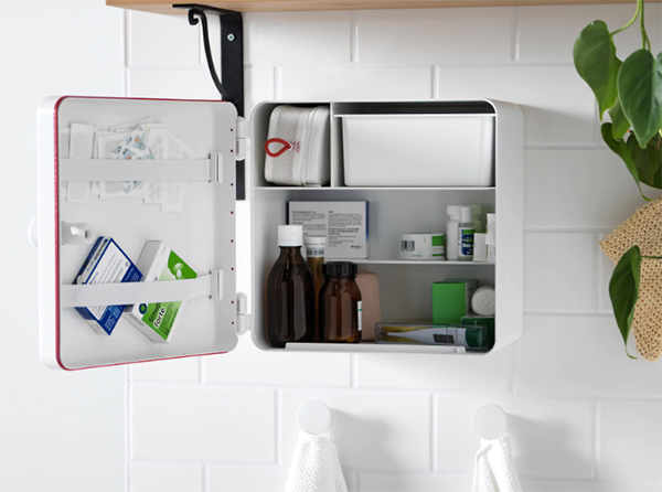 IKEA Trygghet medicine cabinet made from recycled plastic bottles