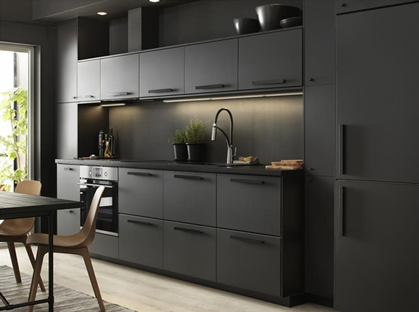 Kungsbacka kitchen cabinet doors made from recycled materials