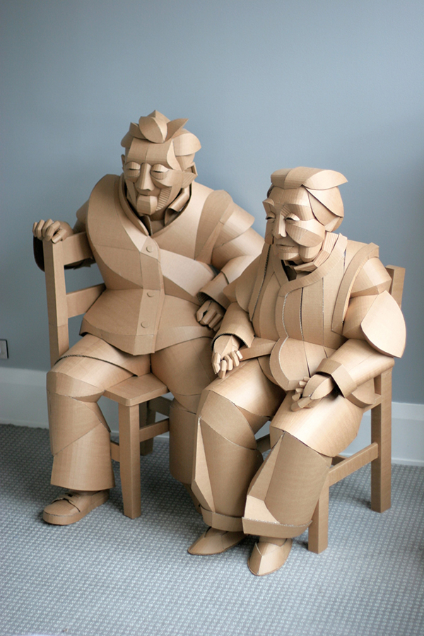 Life size figures in cardboard by Warren King