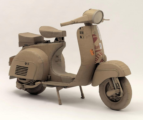 Vespa Rally in cardboard by Chris Gilmour