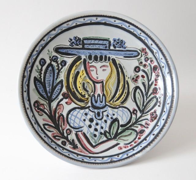 1950s vintage Swedish ceramic plate