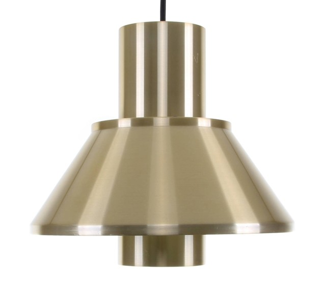 1970s vintage brass pendant light
