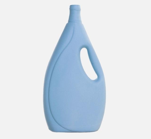 Light blue porcelain bottle vase