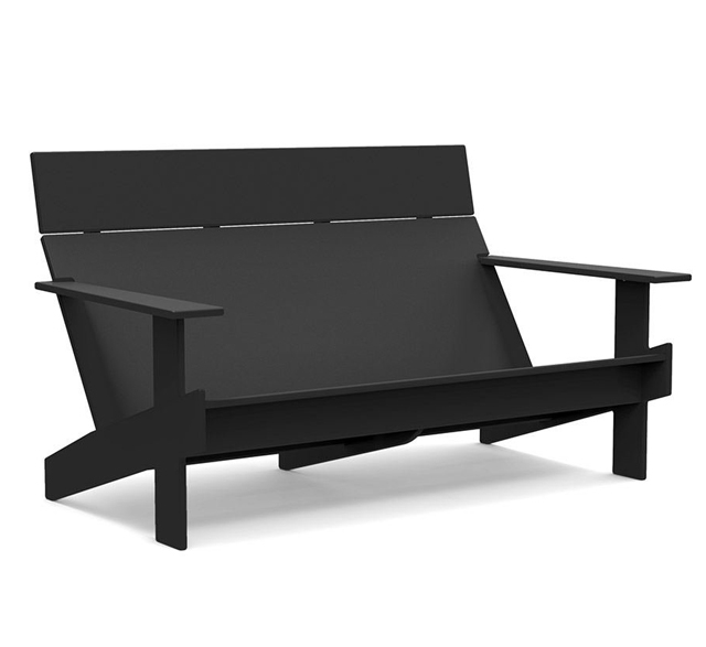Loll Designs recycled plastic outdoor sofa in black