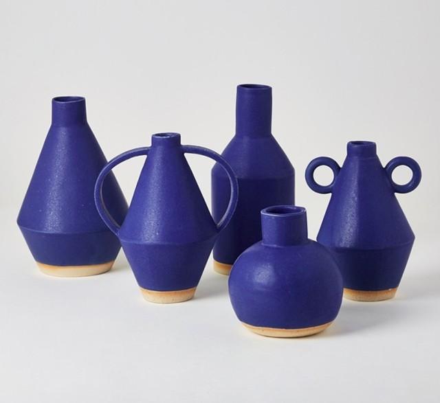 Sophie Alda cobalt ceramics
