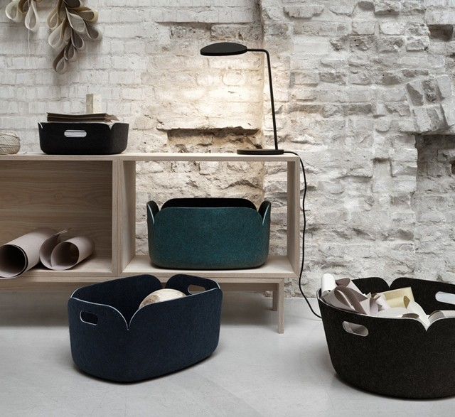 Storage boxes made from recycled plastic bottles