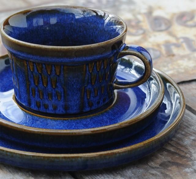 Vintage Søholm stoneware tea trio