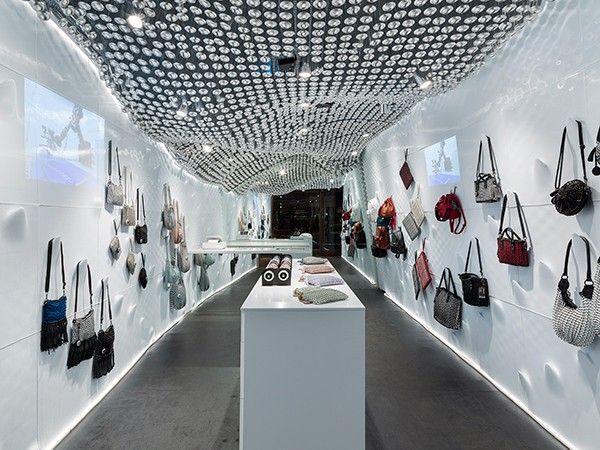 Bottletop flagship store made from 3D printed recycled plastic