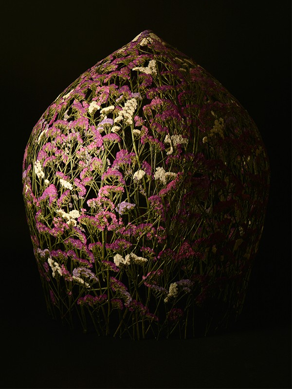 Forever Spring contemporary pressed flower sculpture by Ignacio Canales Aracil