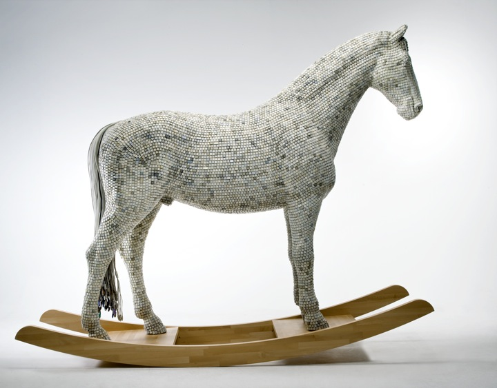 Horse art installation by Babis Pangiotidis