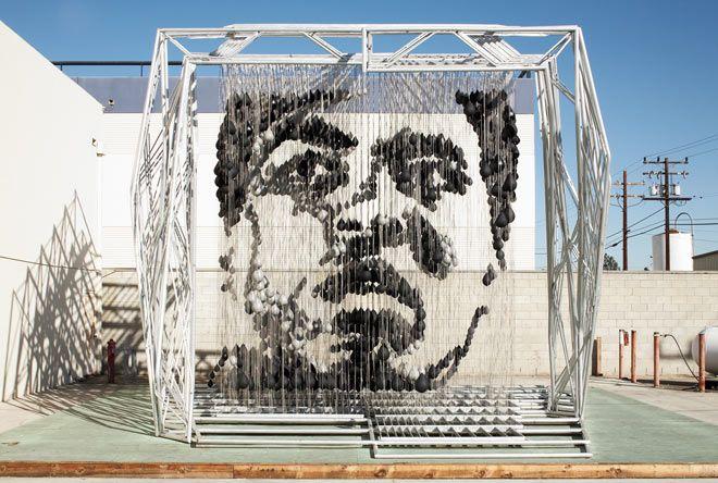 Michael Kalish Muhammed Ali art installation