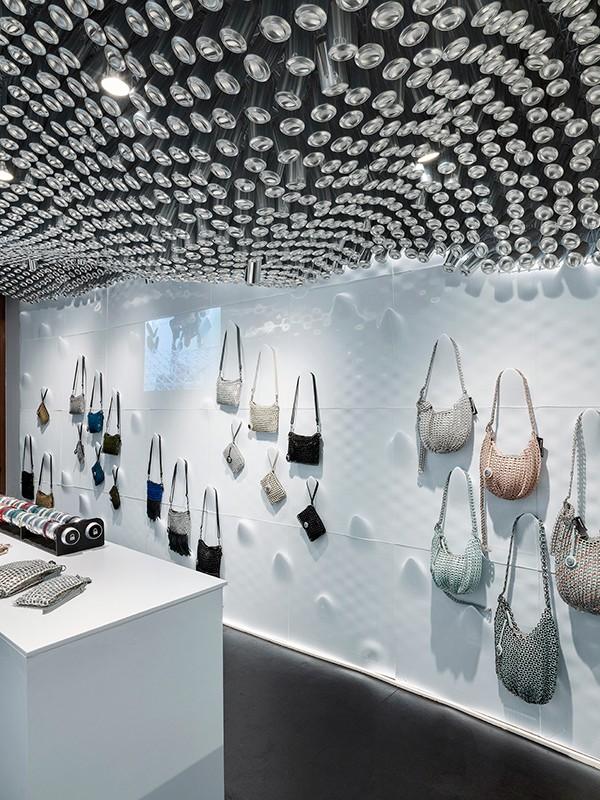 Recycled plastic interior Bottletop Regent Street