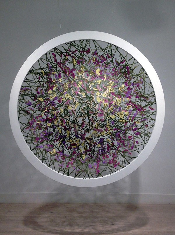 See Through art made from flowers by Ignacio Canales Aracil