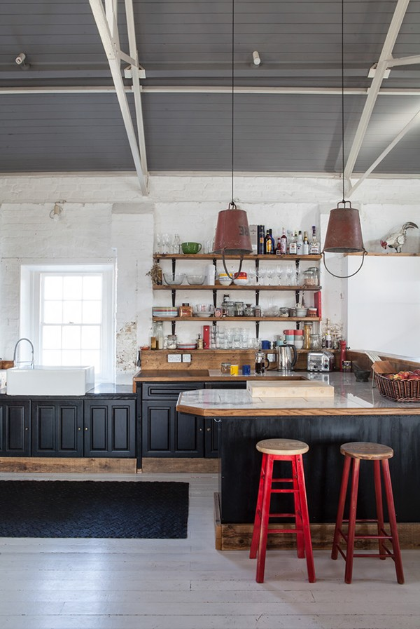 Reclaimed-bucket-lights-in-the-kitchen
