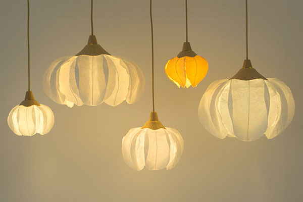 Lamps made from paper