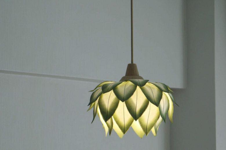 paper flower lampshade by sachie muramatsu