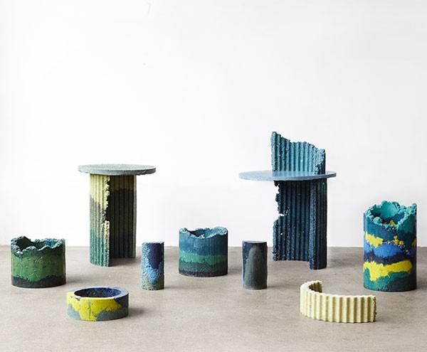 Charlotte Kidger furniture made from industrial waste