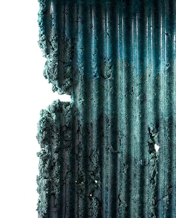 Detail of industrial waste by Charlotte Kidger