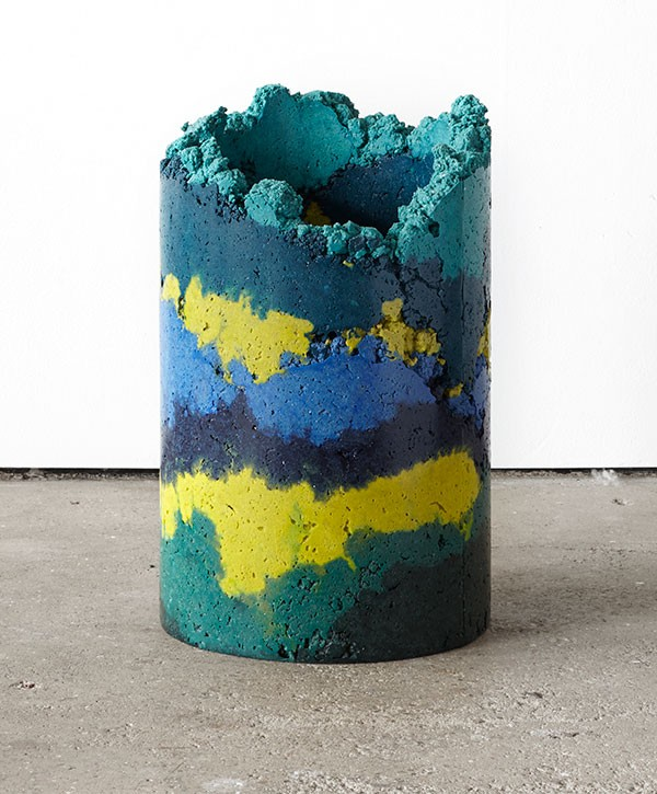 Recycled industrial waste by Charlotte Kidger