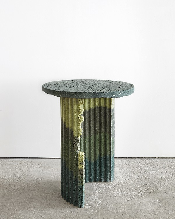 Table made from recycled industrial waste by Charlotte Kidger