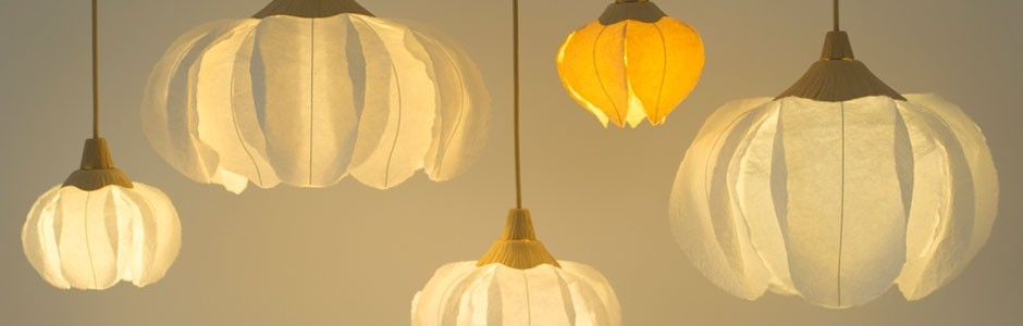 Paper lamps by Satchie Marumatsu