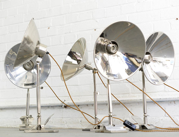Vintage 1930s Swedish task lamps by Glory