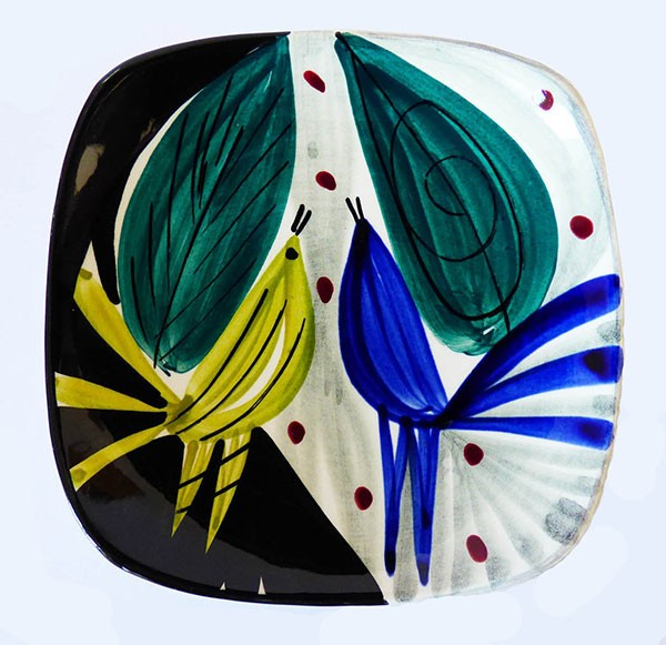 Vintage 1950s Stavangerflint Inger Waage ceramic plate