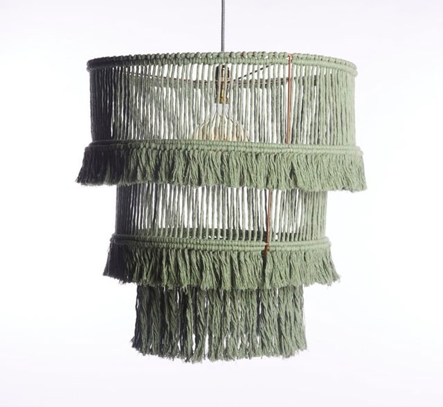 Eco friendly recycled cotton chandelier