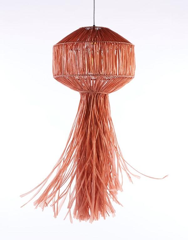 Paper raffia lantern