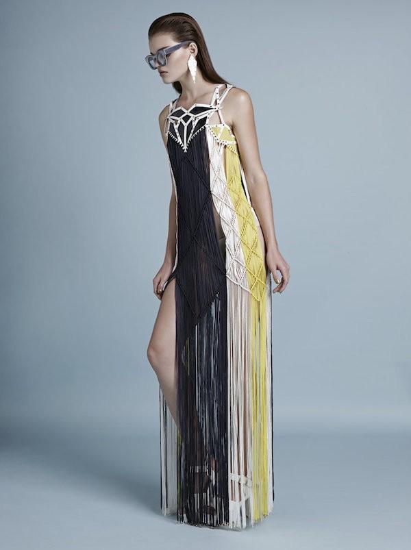 SS15 full length dress by Jane Bowler