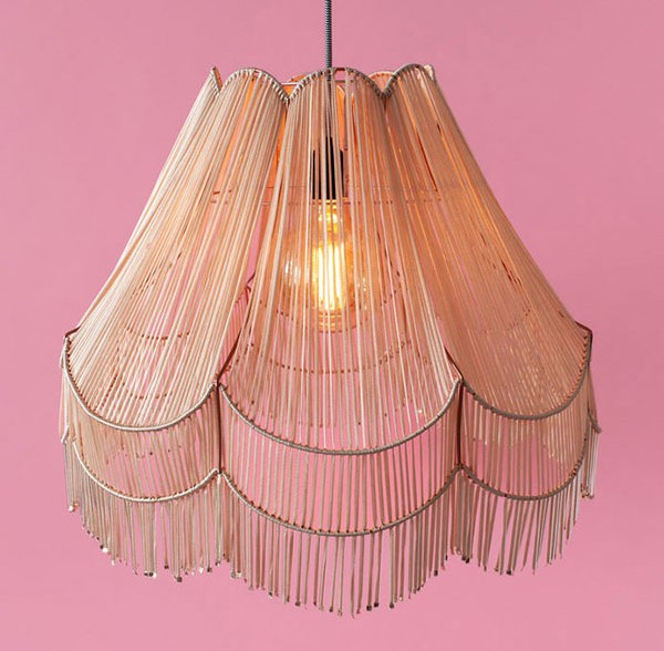 Upcycled vintage lampshade