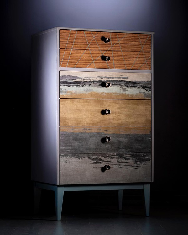 Chest of drawers upcycled in neutral tones