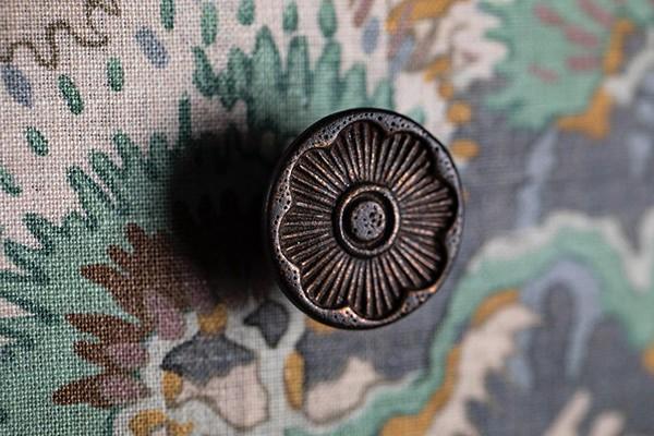 Detail of vintage drawer handle