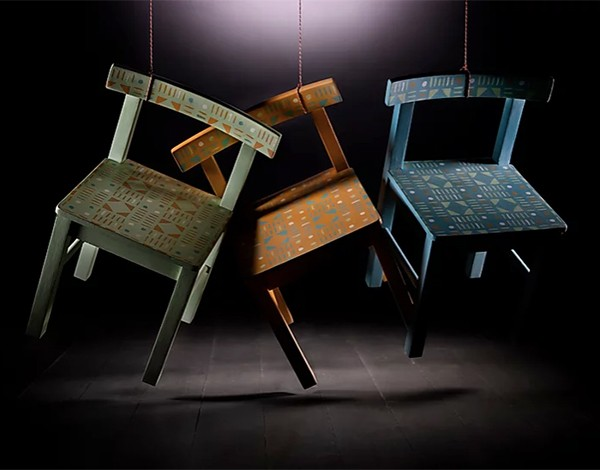 Upcycled painted childrens chairs