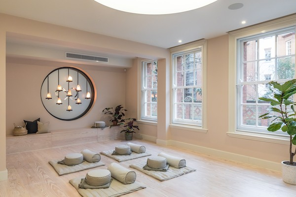 Meditation space interior design by Oliver Heath Design
