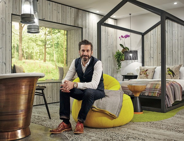 Portrait of Oliver Heath in Biophilic bedroom
